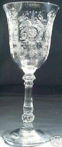 HEISEY ORCHID CRYSTAL #5025 3-OUNCE WINE GOBLET!