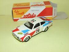 OPEL GTE Rallye Des Milles Pistes 1978 SOLIDO Boite Carton