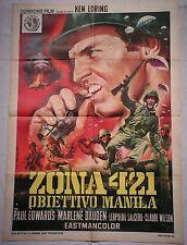 Manifesto ZONA 421 OBIETTIVO MANILA 1969 EDWARDS , DAUDEN 2F
