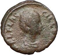 AELIA FLACILLA 379AD Rare Ancient Roman Coin VICTORY CHI-RHO Christ i25301