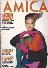 AMICA OCTOBER 1991 ASHLEY ELLIS COVER