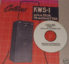 COLLINS KWS-1 TRANSMITTER OPERATING & SERVICE MANUAL