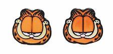 Garfield Character Metal Enamel Stud Earrings