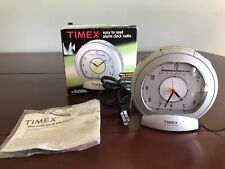 TIMEX T317S AM FM Radio Easy To Read Analog Style Alarm Clock W/ Dimmer