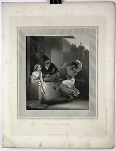 Large 1814 Aquatint Engraved Print from ARABIAN NIGHTS by William Daniell #16