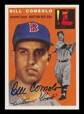 1954 Topps Archives Signed Autographed Bill Consolo Boston Red Sox 20691