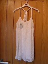 Abercrombie & Fitch Strapless White Lined Dress Kids M NEW RRP $59.50 (Ref L)