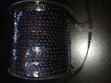 SEW ON String Sequin 5 mm Hologramme Sequin Noir Couture Bordure Garniture
