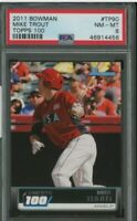 2011 Bowman Topps 100 Mike Trout Angels RC Rookie PSA 8 NM-MT