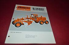 Champion D-560Hd Motor Grader Dealer's Brochure Dcpa6
