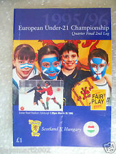 1996 SCOTLAND v HUNGARY, 26th March- Under 21 European Championship 1/4 FINAL