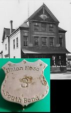 Rare 1850s Historic Union Hose Number 3 South Bend Indiana Fire Department Badge