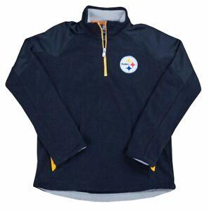 Pittsburgh Steelers NFL Youth Evasive Tek Warm Black 1/4 Zip Fleece Jacket