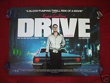 DRIVE * 2011 ORIGINAL BRITISH QUAD MOVIE POSTER RYAN GOSLING CAREY MULLIGAN D/S