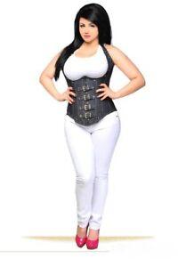 Daisy CorsetsTop Drawer Denim Steel Boned Underbust Top w/Buckles 2x-6x Plus
