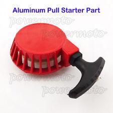 Parte de arranque de aluminio rojo comienzo del tirón para 47 49cc Mini Pocket Dirt Bike ATV Quad
