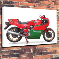 "Ducati 900 mike hailwood Motorbike Printed Canvas Picture A1.30""x20"" - 30mm Deep"