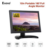 EYOYO 10 Inch 1920*1200 Portable Monitor TFT-LCD With BNC VGA Input For Computer