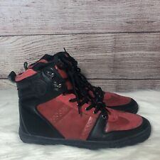 Guess High Top Sneakers Black & Red Mens Size 11