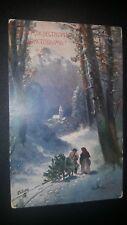 Antique Raphael Tuck & sons Oilette post card Merry Christmas с Рождеством 1908