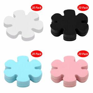 20 Flower Adhesive Anti-slip Bathtub Decals Stickers Bath Tubs Shower Treads 4in