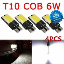 4PCS T10 COB 6W W5W 194 168 LED Canbus Error Free Side Wedge Light Lamp Bulb