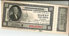 Democratic National Convention 1924 New York Guests Ticket Book complete & Mint