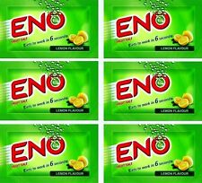 6X3 TOTAL 18  Sachets ENO Fruit Salt Relieves Acidity Stomach Gas Lemon Flavour