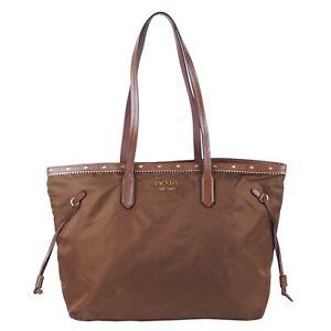 100% Authentic Prada Nylon and Saffiano Leather Tote Bag