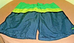 Speedo Mens Swim Trunks/Board Shorts Color Block Retro Style Size 2XL (44-46)