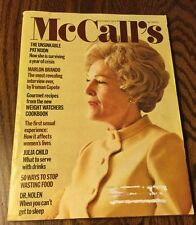 VINTAGE McCall's Magazine October 1973 COVER Unsinkable Pat Nixon, from estate