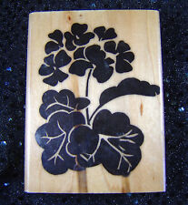 Rubber Seed Company Wood Mounted Rubber Stamp 135 Solid Geranium 1994 UNUSED
