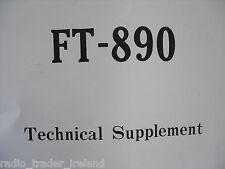 YAESU FT-890 (GENUINE TECHNICAL SUPPLEMENT ONLY).......RADIO_TRADER_IRELAND.