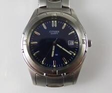 Citizen Stainless Steel Blue Dial Date Men's Watch QX