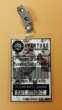 Portal Id Badge - Aperture test subject costume prop cosplay