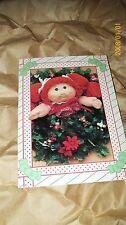 Cabbage Patch Kids Picture Xmas Cards Very Hard To Find. 002