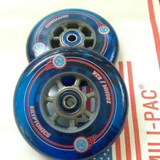 "PAIR 4x1 WHEELCHAIR CASTER WHEELS, FROG LEGS,  TILITE, QUICKIE, ""SOFT ROLL"""