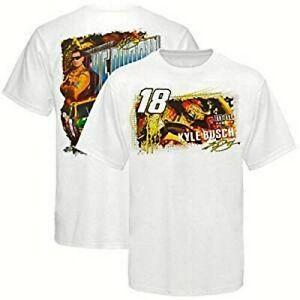 Kyle Busch #18 MM's White Draft T-shirt,  Medium