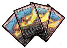 4 LLAMAS RADIANTES FOIL Zendikar Promo FULL ART Magic Radiant Flames x4 MTG