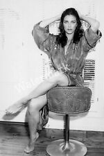 LYNDA CARTER SITTING ON DRESSING ROOM CHAIR WITH HER NAME ON IT PUBLICITY PHOTO