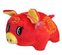 2019 Chinese New Year Fat Pig Plush Stuffed Animal Toy Decoration, Lucky Charm