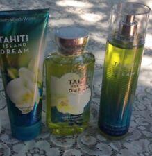 BATH & BODY Works TAHITI ISLAND DREAM Fragrance MIST BODY CREAM S GEL SeT X3