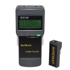 Lan Phone Cat5 Rj45 Network Cable Tester Test Meter Sc8108 Test Line Length Tool