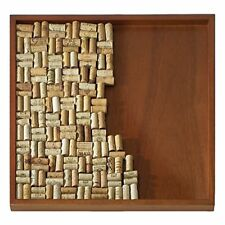 Wine Cork Board Frame Kit Mahogany Wood Décor Ideal Gift For Wine Enthusiasts