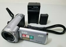 JVC Everio GZ-HM30 40X Optical High Defition HD Camcorder Silver *GOOD/TESTED*