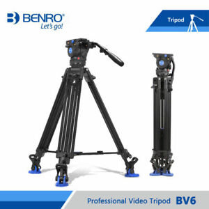 second hand Benro BV6 Video Tripod Professional Auminium Camera Tripod   Head