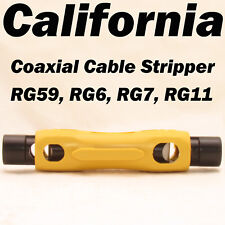 Speedy Coax Coaxial Cable Jacket Cutter Stripper Tool RG6 RG59 RG7 RG11 UTP STP