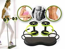 Double Wheels Ab Roller Pull Rope Abdominal Waist Slimming Exercise Equipment