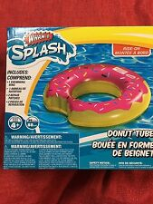 """Wham-O Pink Frosted Donut Swimming Pool Beach Inflatable 35"""" Float Summer Fun"""