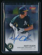 MATT OLSON 2015 BOWMAN'S BEST BEST OF '15 AUTOGRAPH RC AUTO *OAKLAND ATHLETICS*